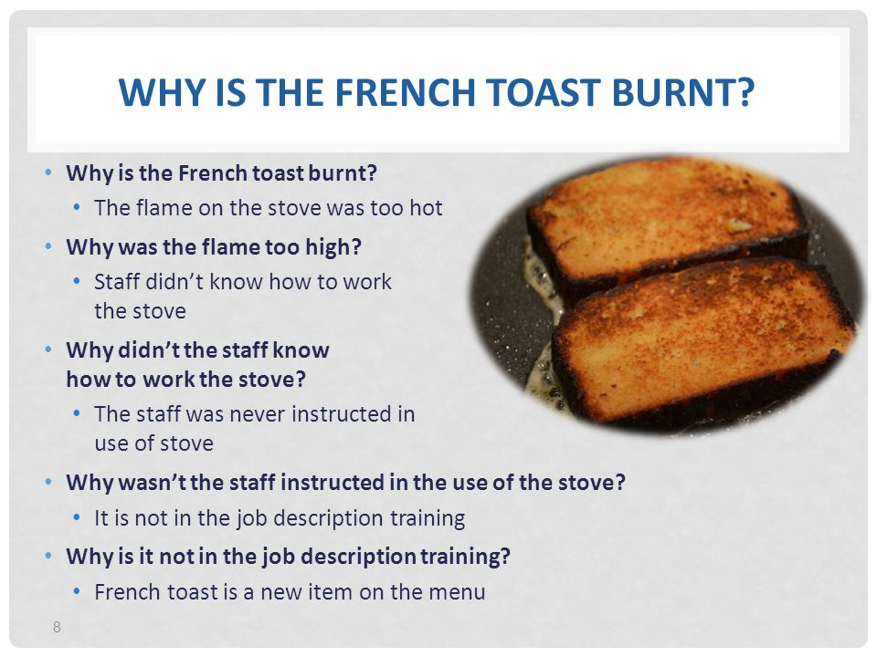 Why is the French Toast Burnt