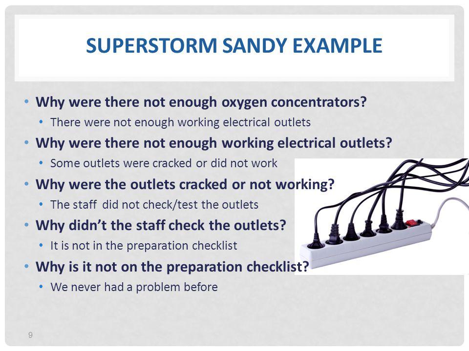 Superstorm Sandy Example