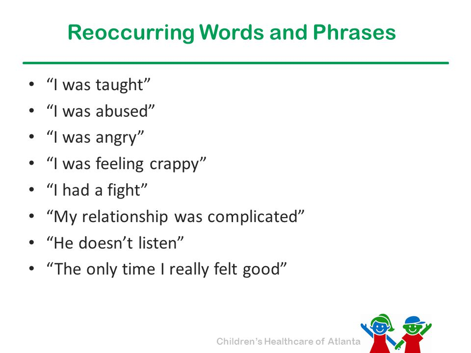 Reoccurring Words and Phrases