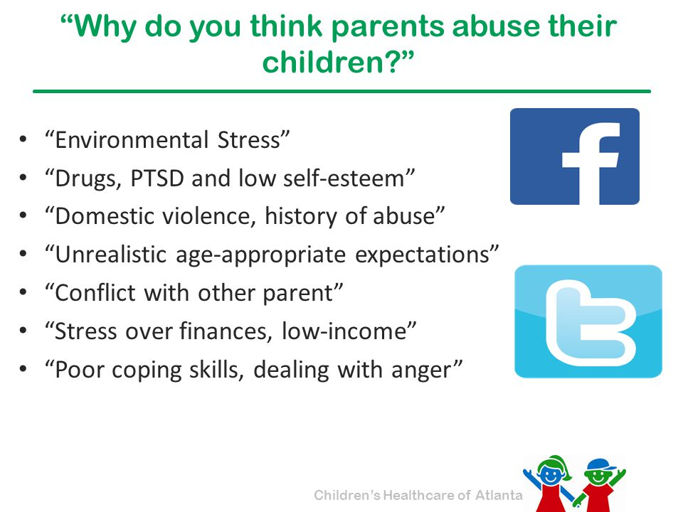 Why do you think parents abuse their children