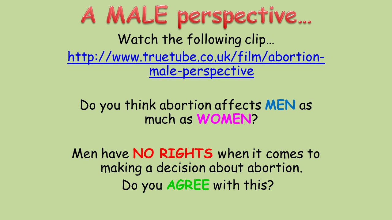 A MALE perspective…
