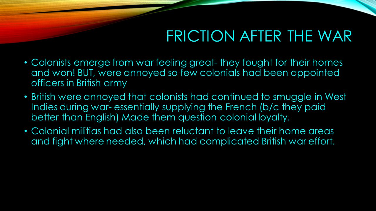 Friction After the War