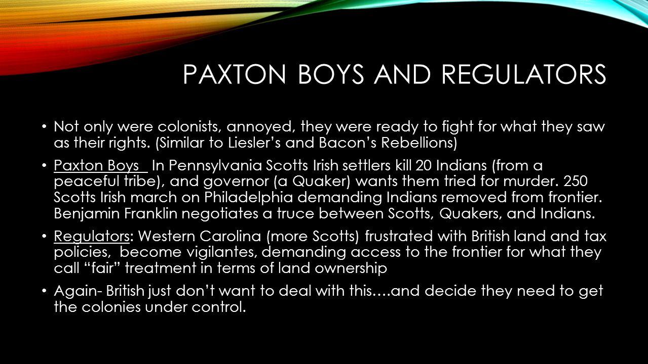 Paxton Boys and Regulators