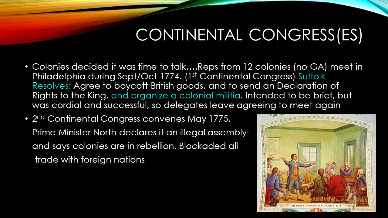 Continental Congress(es)