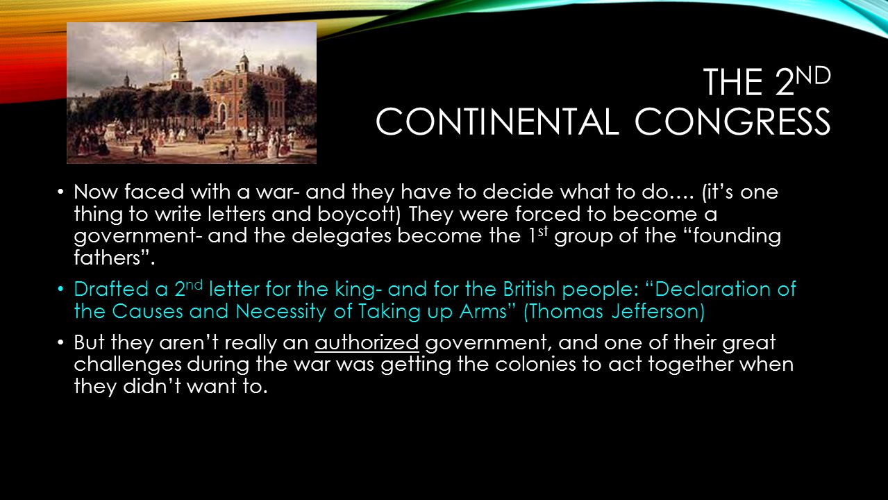 The 2nd continental Congress