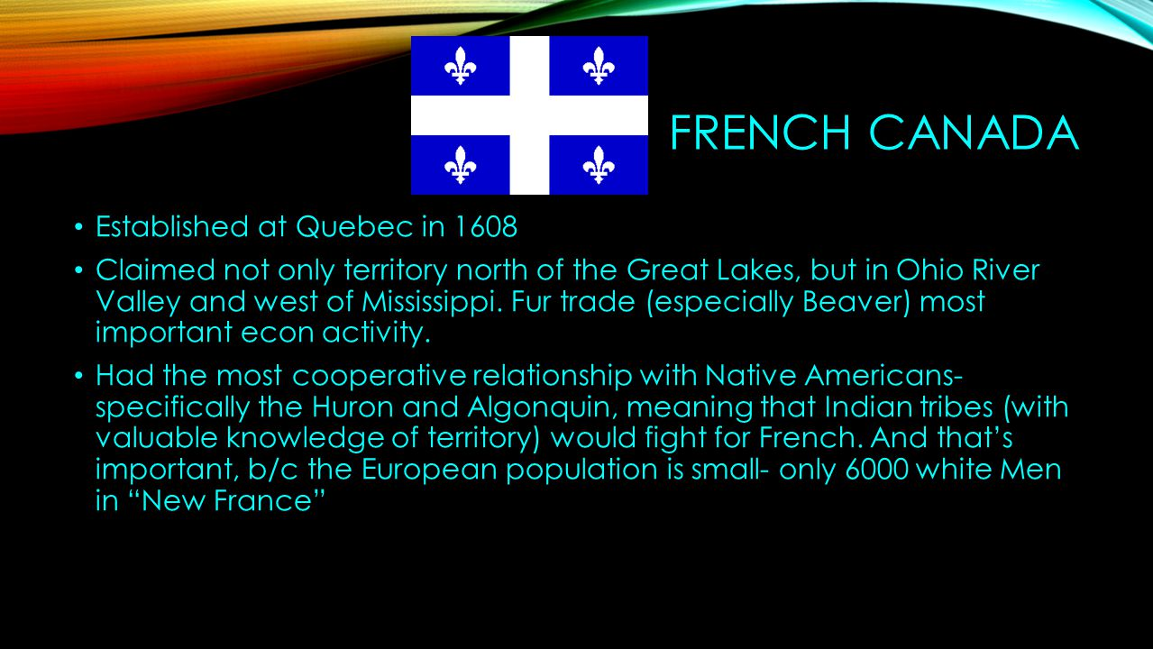 French Canada Established at Quebec in 1608