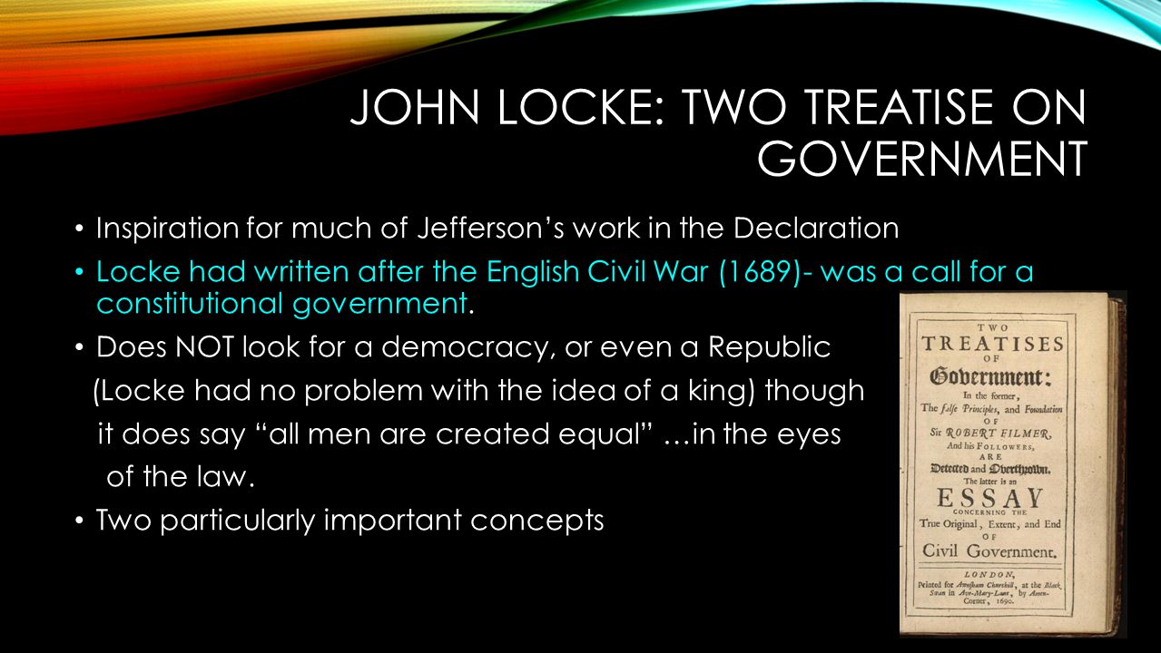 John Locke: Two Treatise on Government