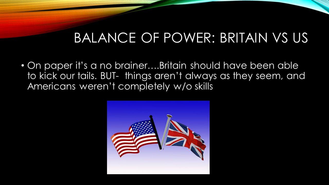 Balance of Power: Britain Vs US