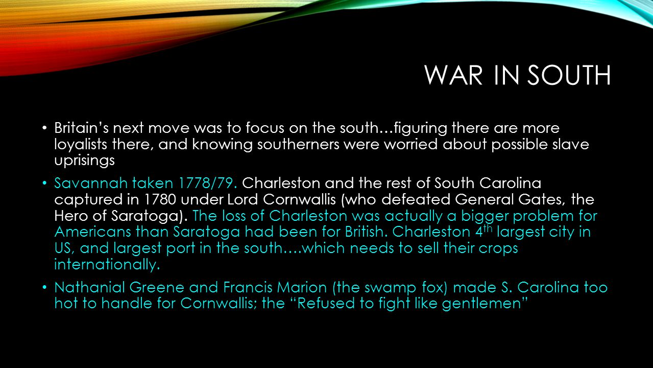 War in South