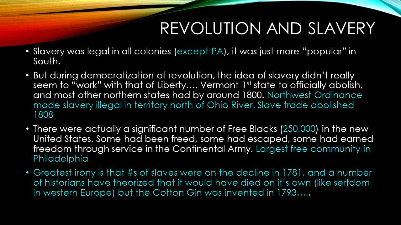 Revolution and Slavery