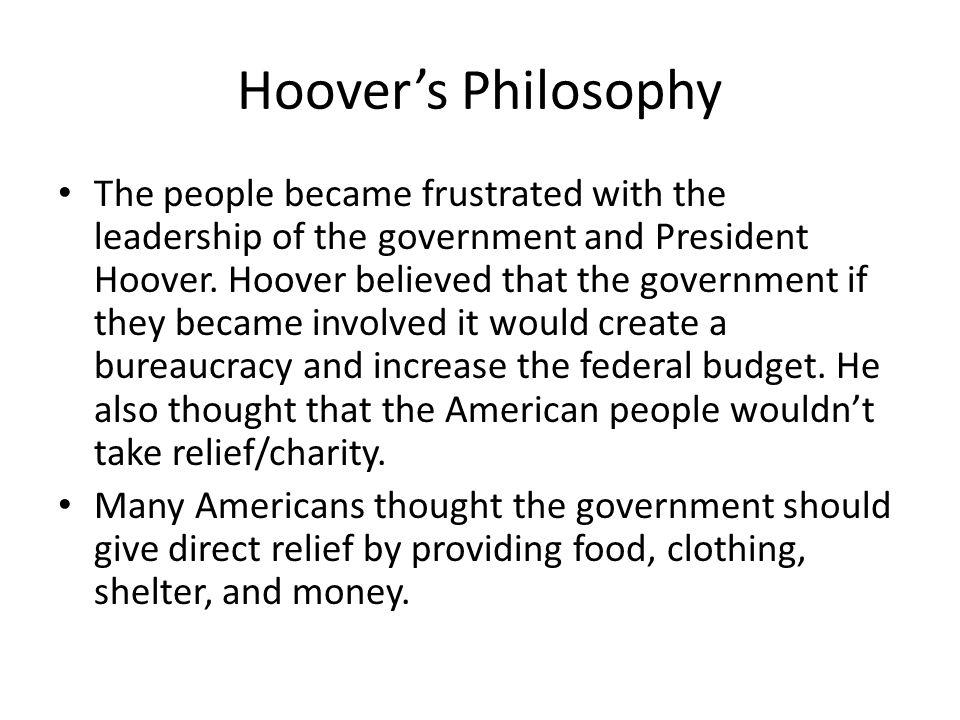 Hoover's Philosophy