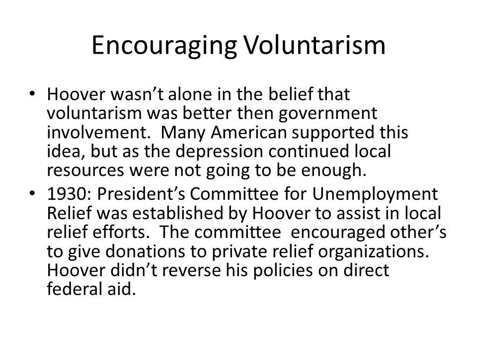 Encouraging Voluntarism