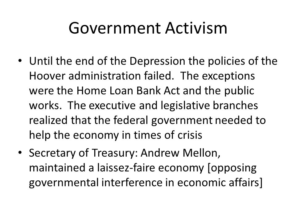 Government Activism