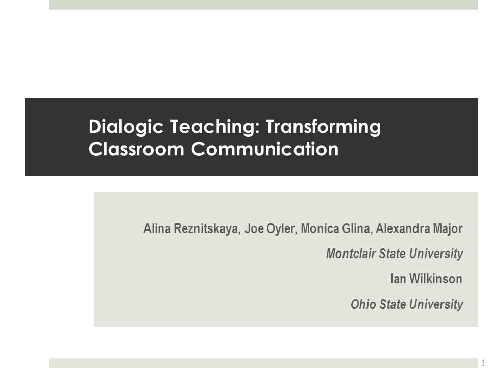Dialogic Teaching: Transforming Classroom Communication