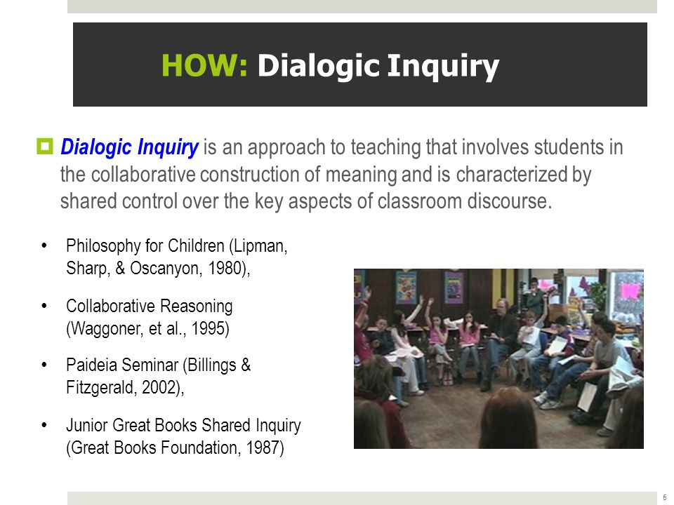 HOW: Dialogic Inquiry