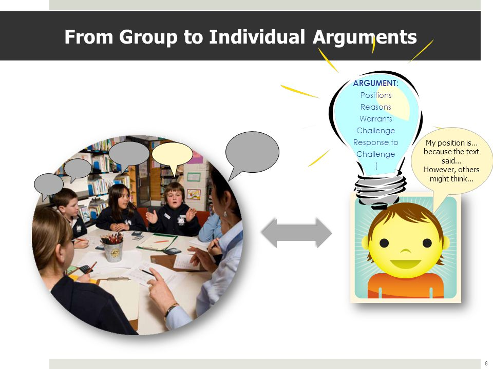 From Group to Individual Arguments