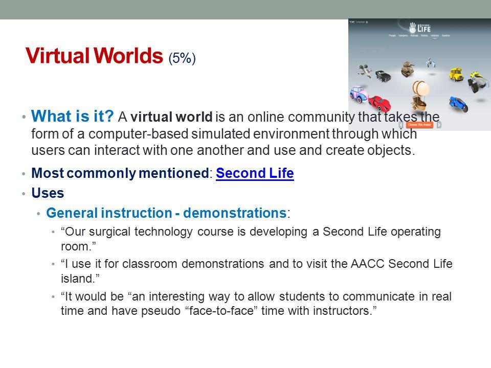 Virtual Worlds (5%)