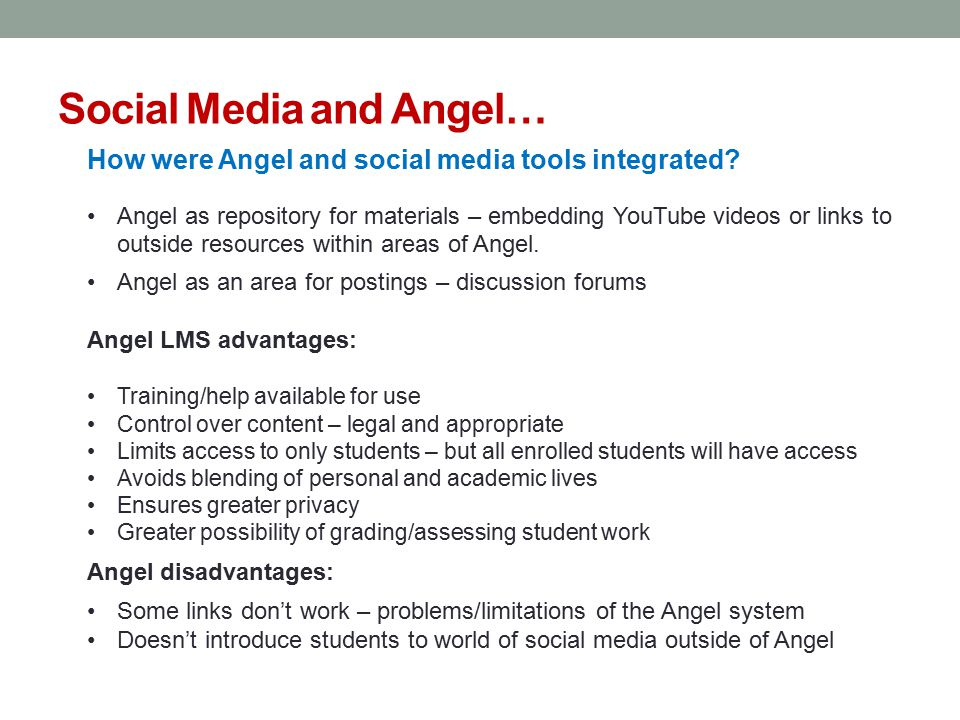 Social Media and Angel…
