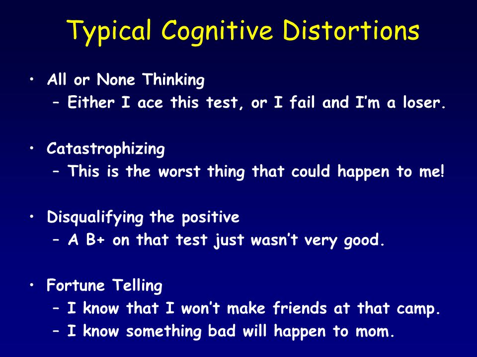 Typical Cognitive Distortions