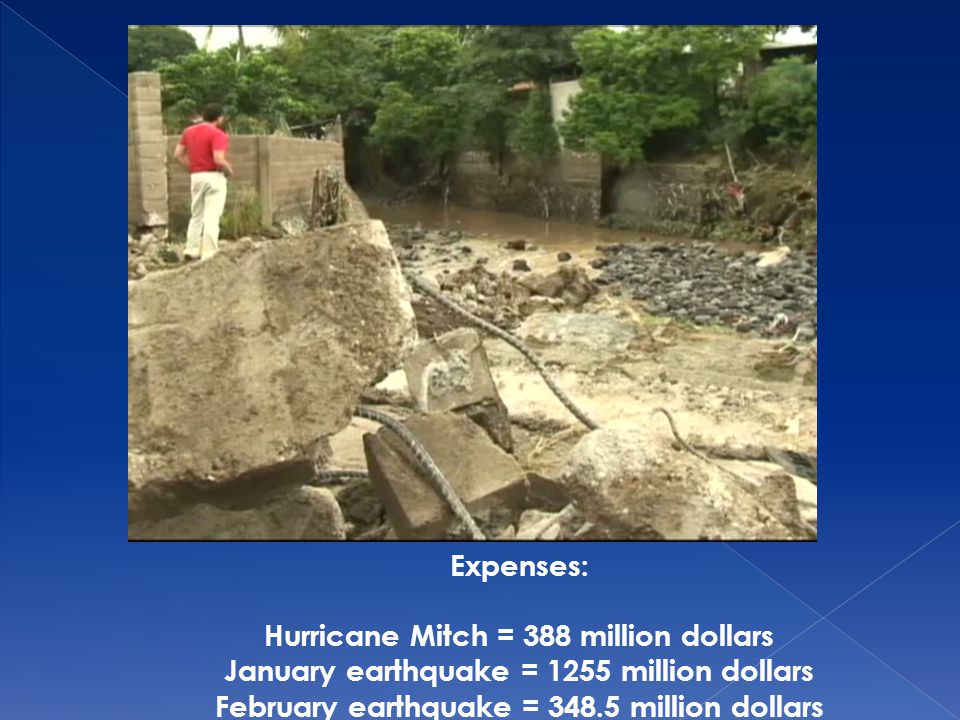 Hurricane Mitch = 388 million dollars