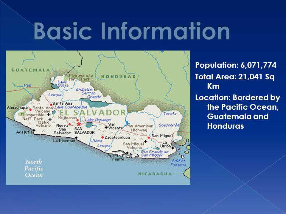Basic Information Population: 6,071,774 Total Area: 21,041 Sq Km