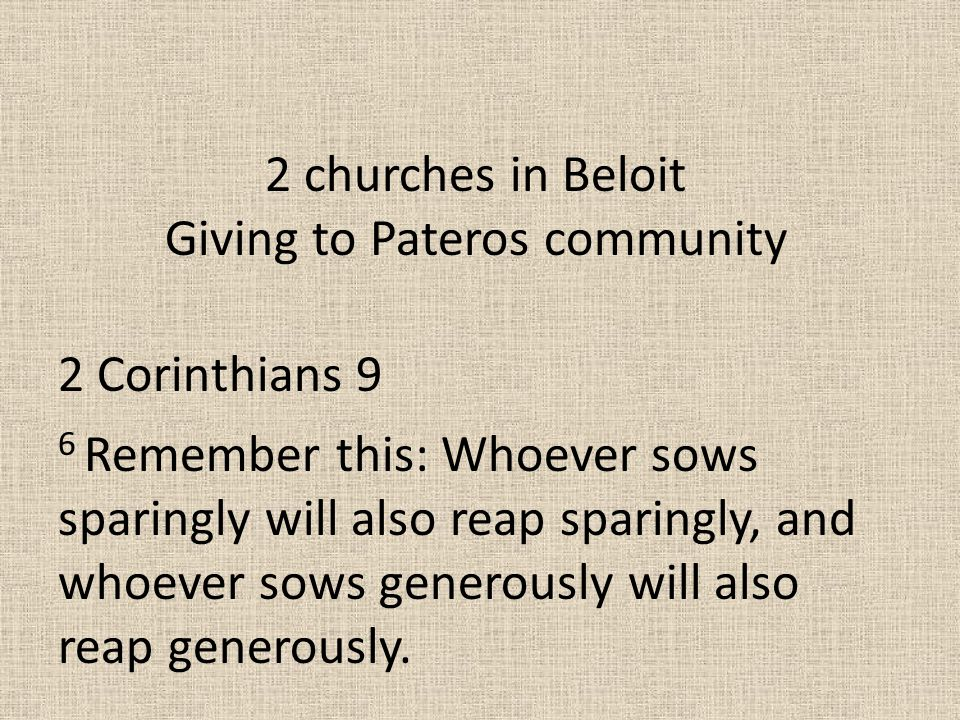 Giving to Pateros community
