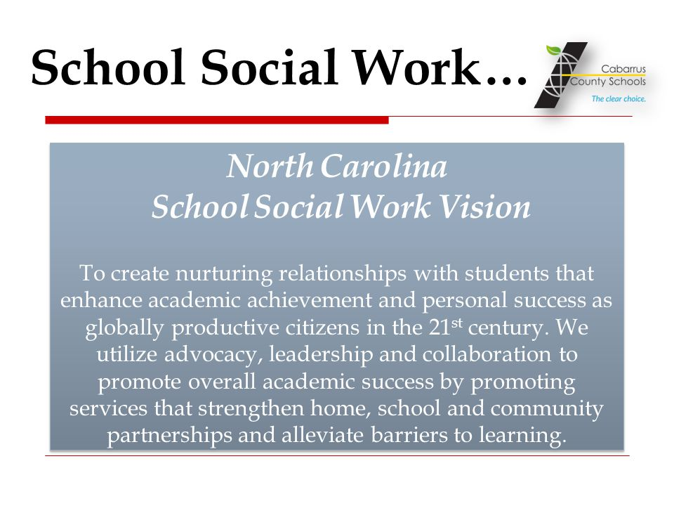 North Carolina School Social Work Vision