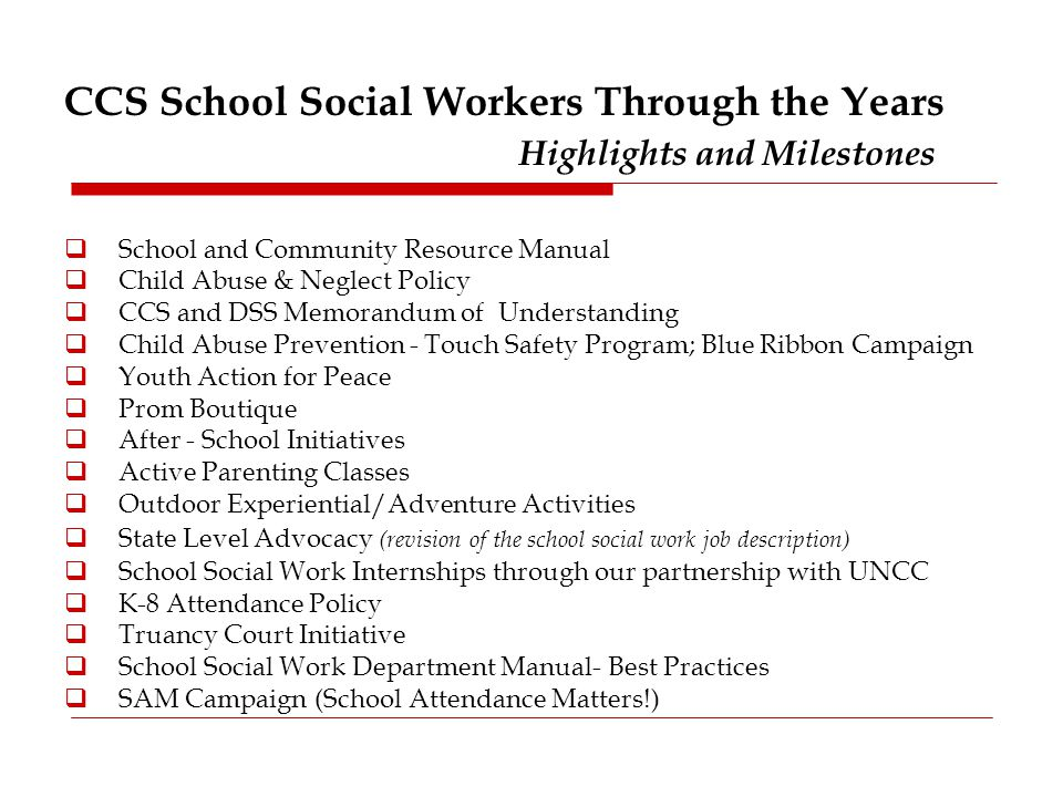 North Carolina School Social Work Vision  Ppt Video Online Download