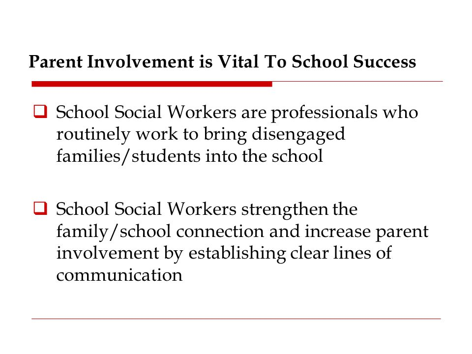 Parent Involvement is Vital To School Success