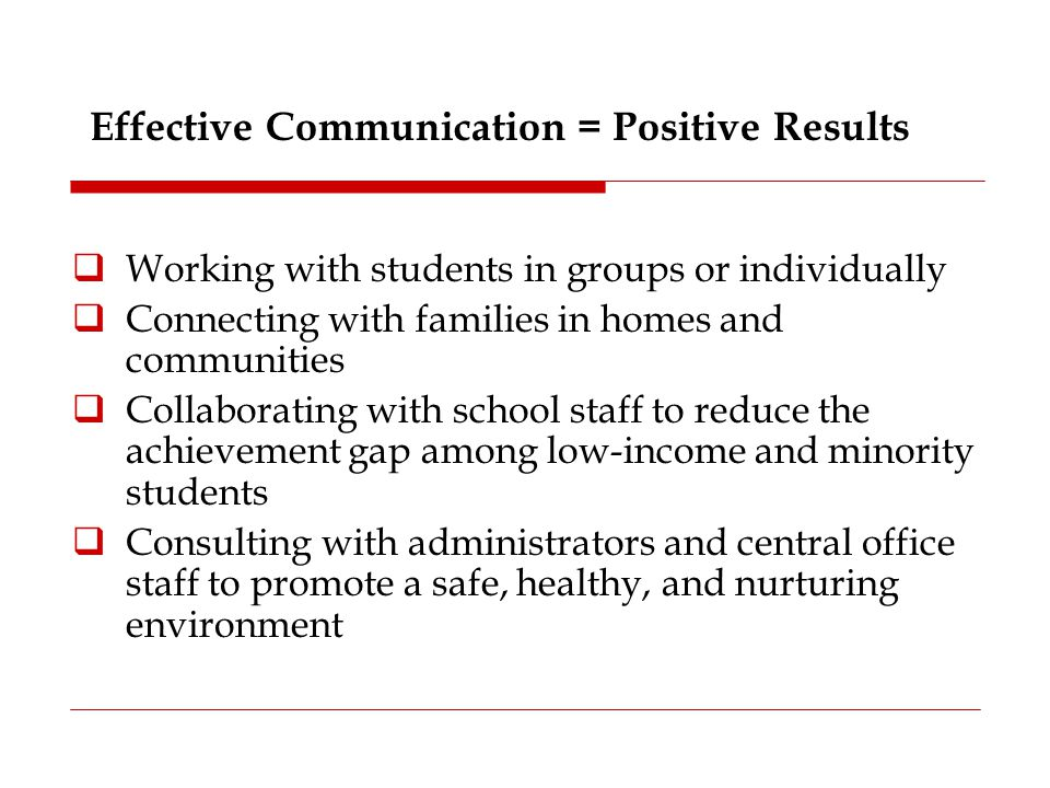 Effective Communication = Positive Results
