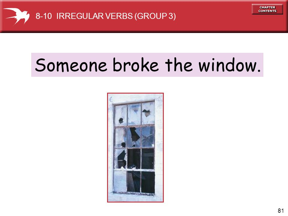 Someone broke the window.