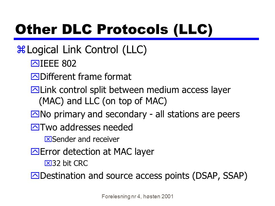 Other DLC Protocols (LLC)