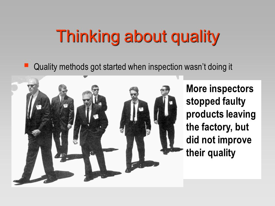 Thinking about quality