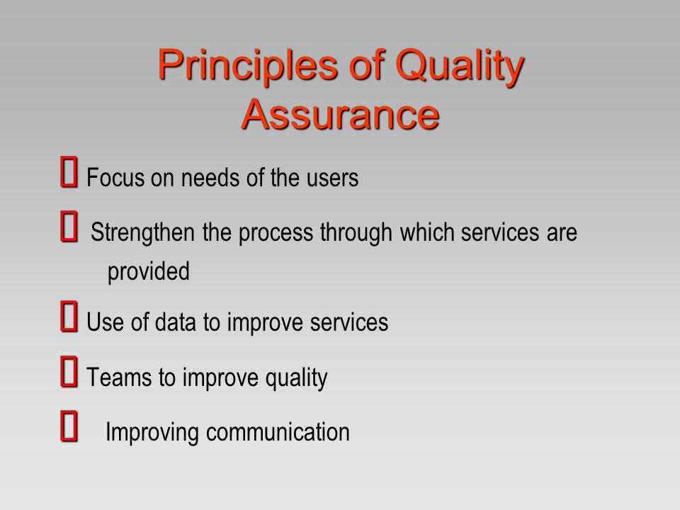 Principles of Quality Assurance