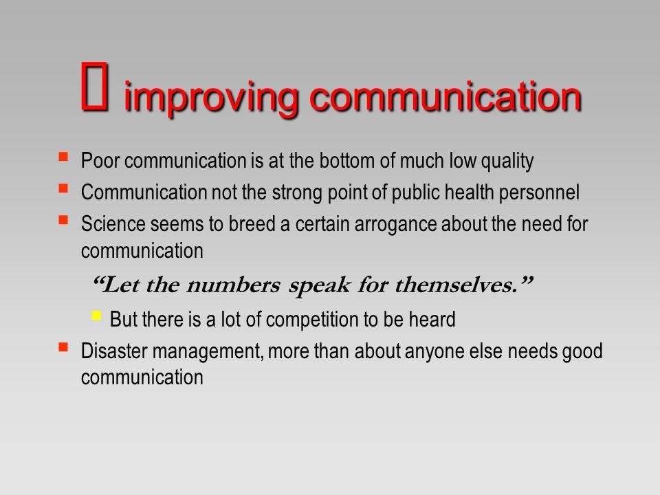 Ü improving communication