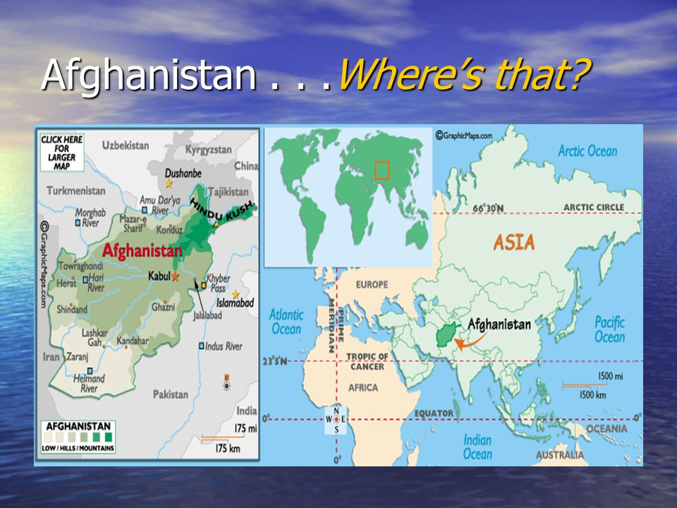 Afghanistan . . .Where's that