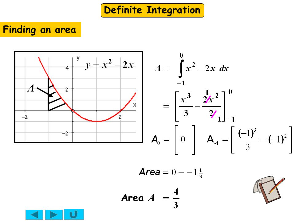 Finding an area A Area A