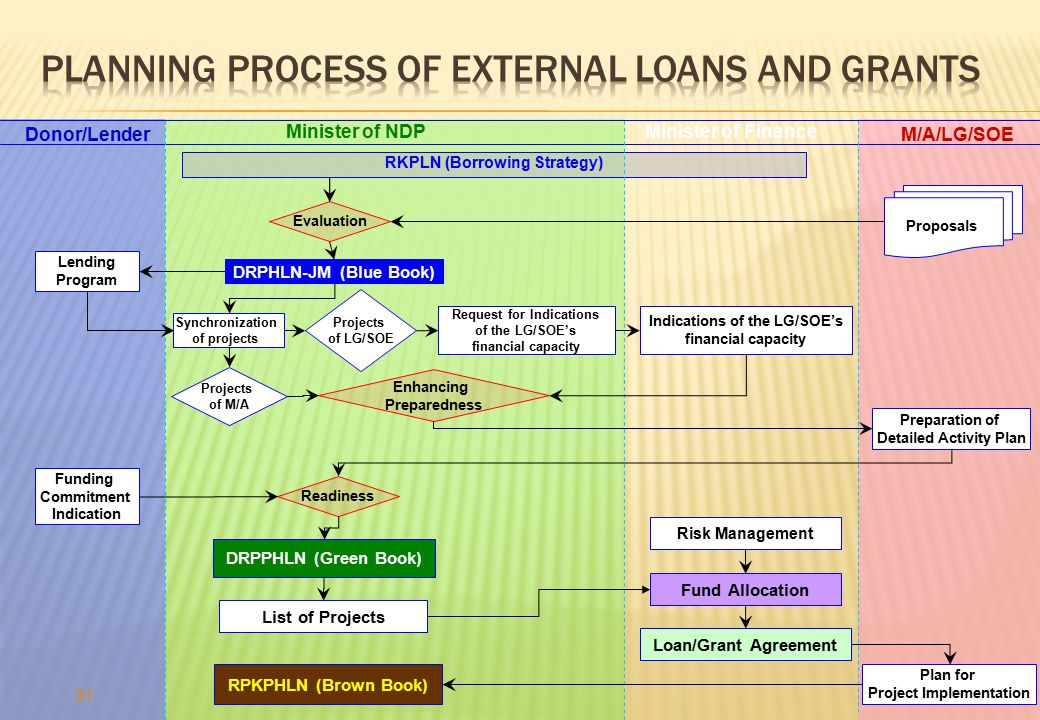 Planning Process OF EXTERNAL LOANS AND GRANTS