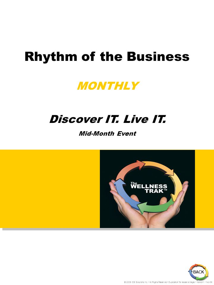 Rhythm of the Business MONTHLY