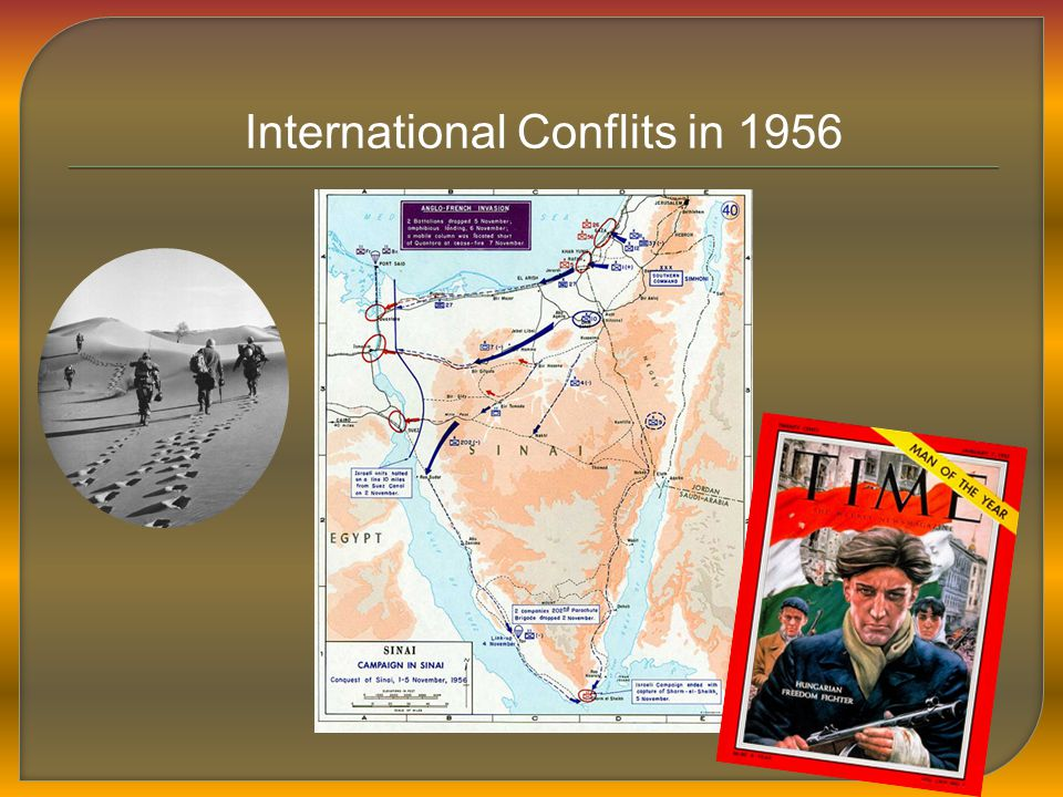 International Conflits in 1956