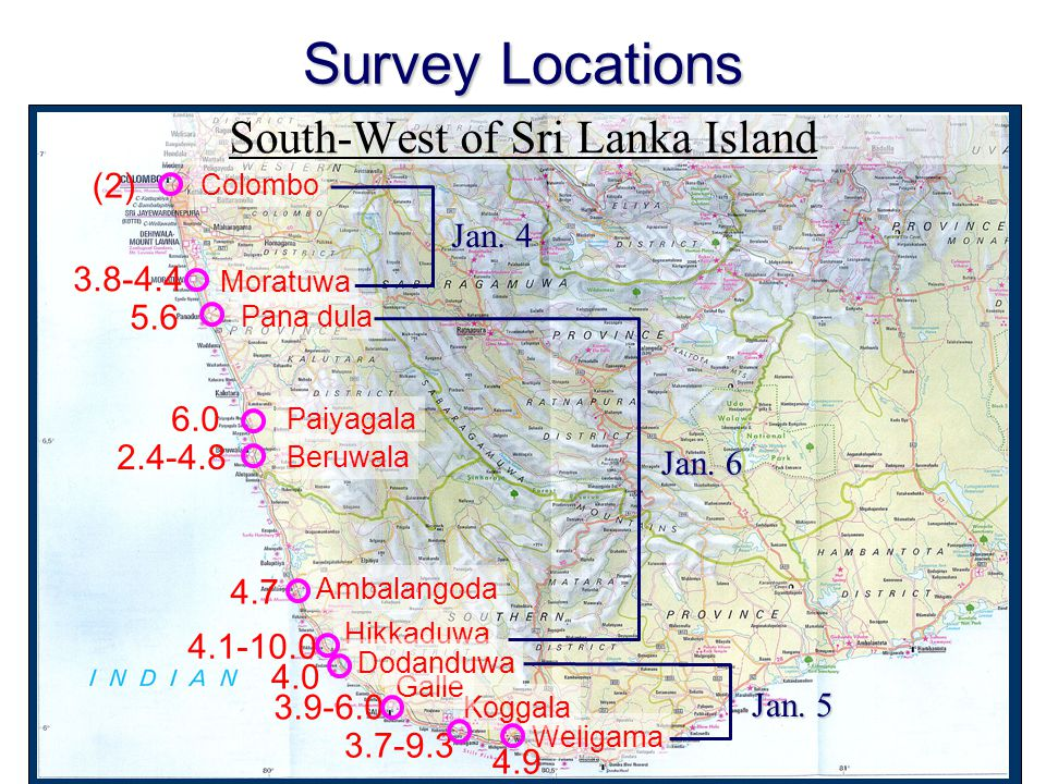 South-West of Sri Lanka Island