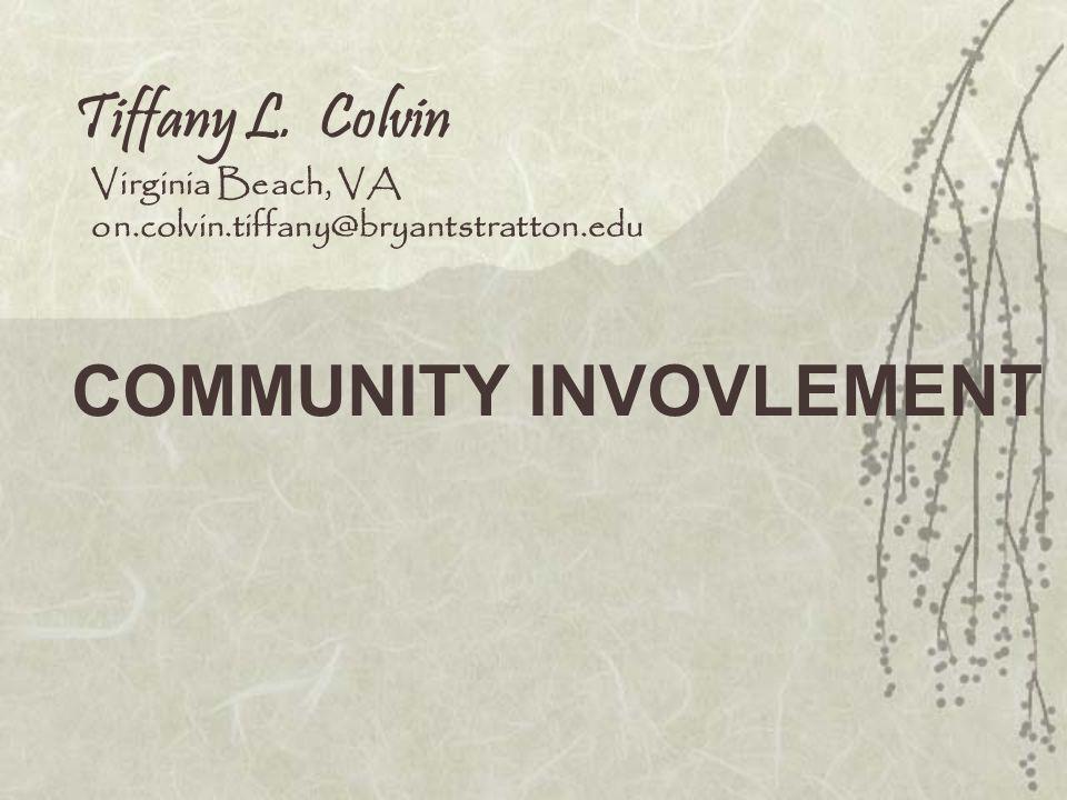 COMMUNITY INVOVLEMENT