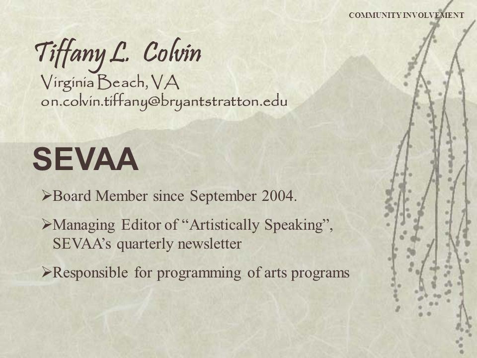 SEVAA Tiffany L. Colvin Virginia Beach, VA