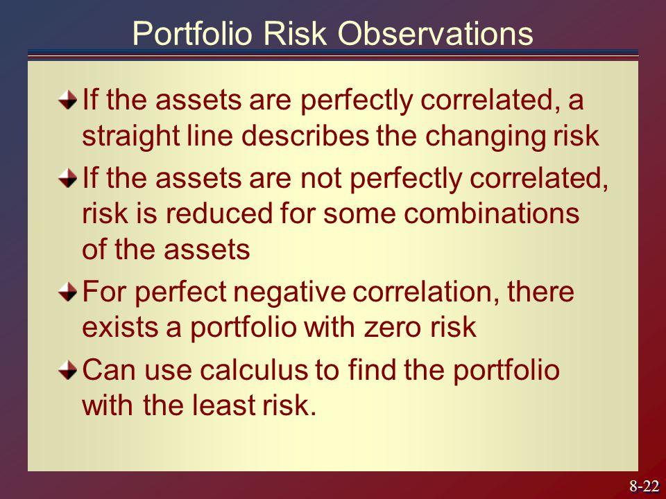 Portfolio Risk Observations