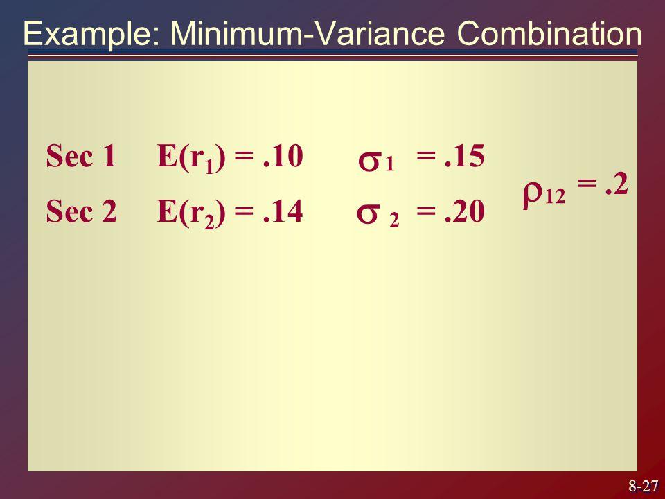 Example: Minimum-Variance Combination