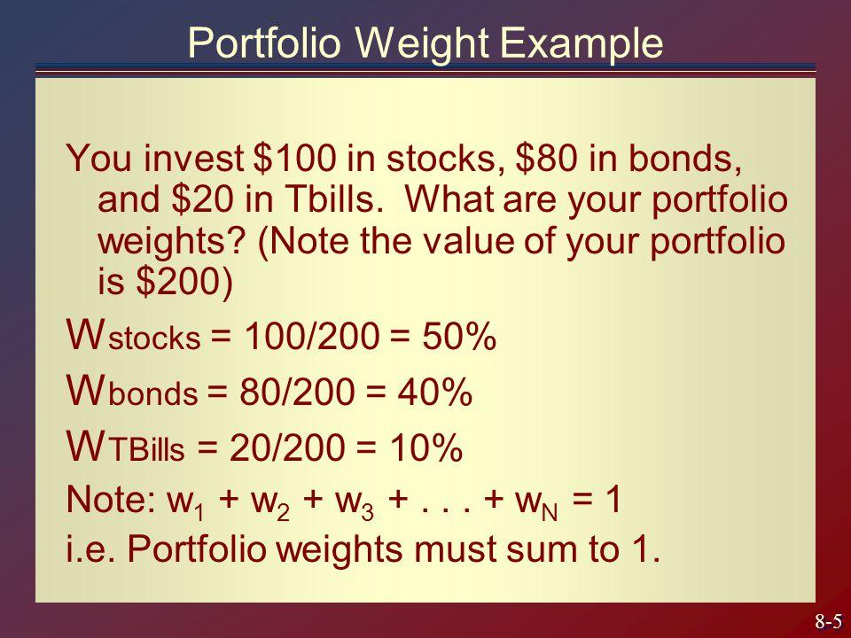 Portfolio Weight Example
