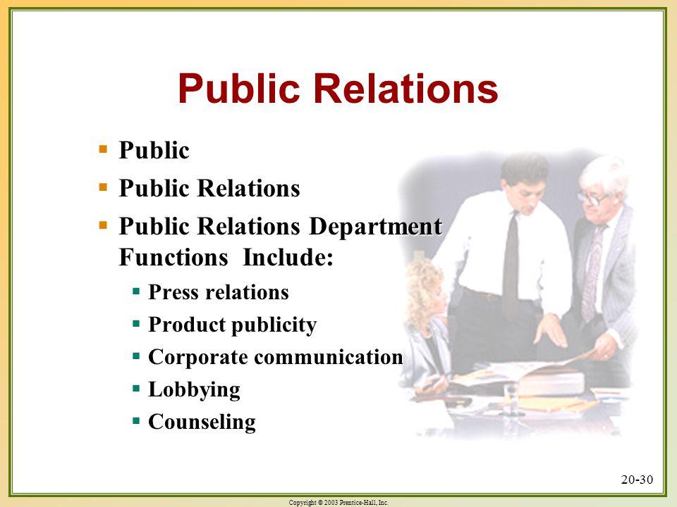 Public Relations Public Public Relations