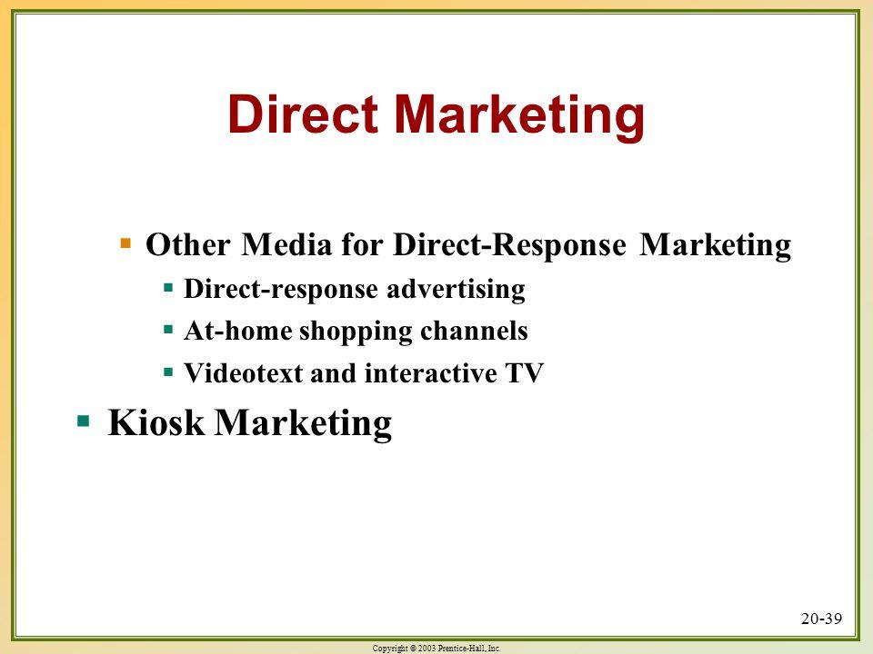 Direct Marketing Kiosk Marketing