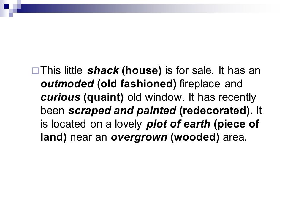 This little shack (house) is for sale