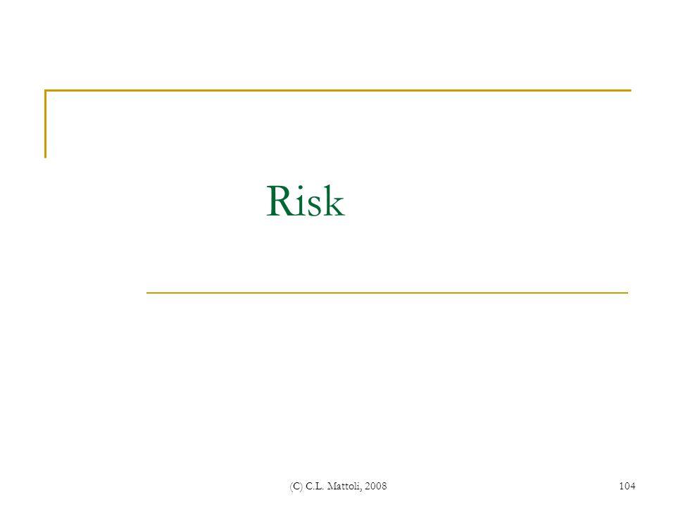 Risk (C) C.L. Mattoli, 2008
